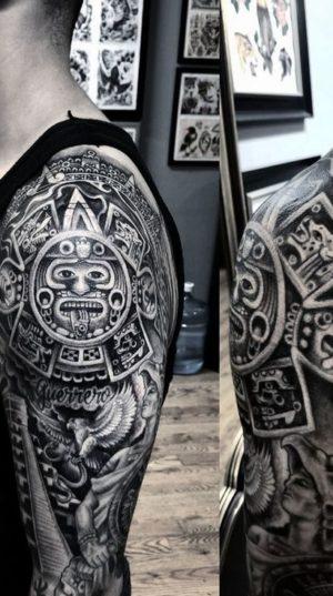 Татуировка Майских Узоров На плечах