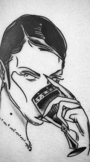 Татуировка Хендрикс в домашнем стиле.
