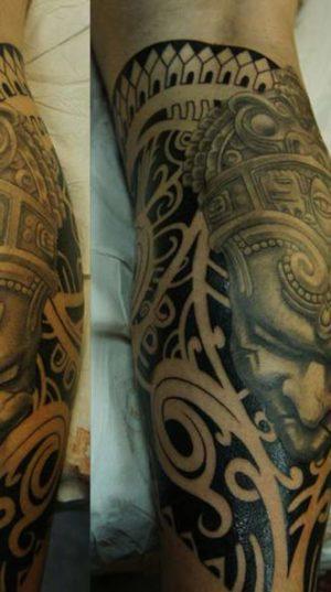 Татуировка На Груди В Стиле Dotwork.