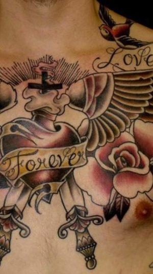 Олдскульная Татуировка На Груди
