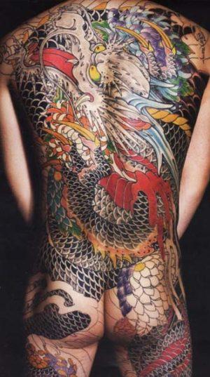 Шикарная татуировка во всю спину в стиле oriental. ( стиль япония)