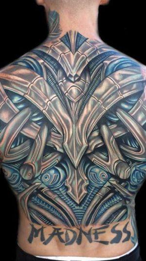 Татуировка Спина В Стиле Биомеханика !